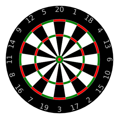 Download free round arrow dartboard icon