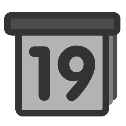 Download free grey calendar diary icon