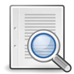 Download free sheet magnifying glass search icon