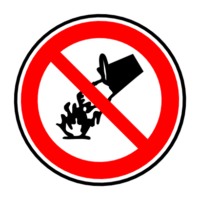 Download free red round prohibited flame water panel icon