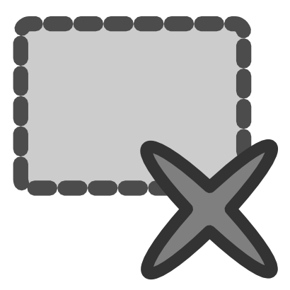 Download free grey cross rectangle icon