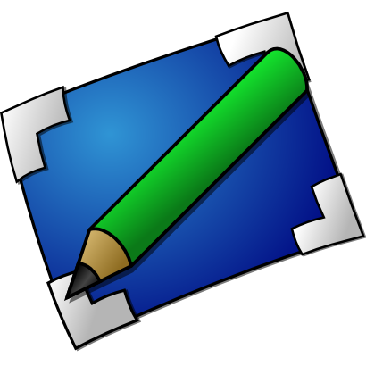 Download free pencil blue sheet green icon