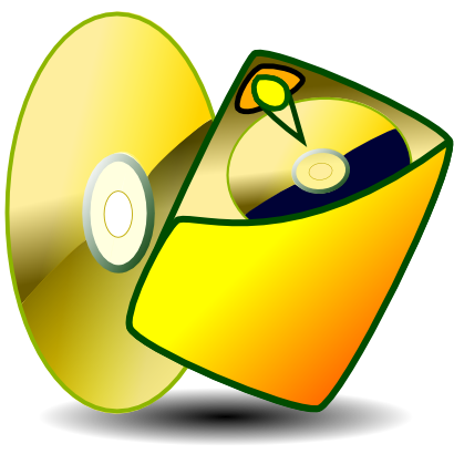 Download free yellow disk cd icon