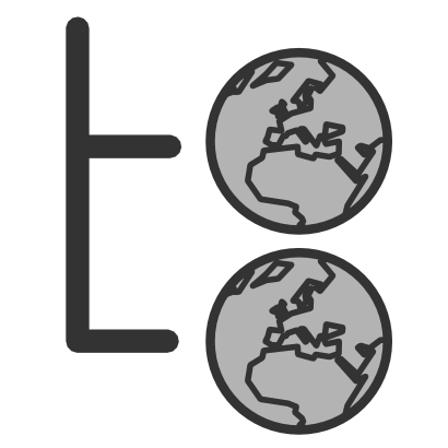 Download free earth letter grey icon