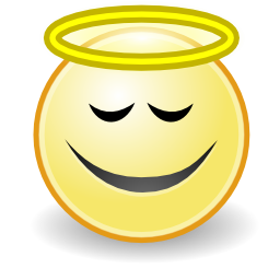 Download free round face smiley angel icon