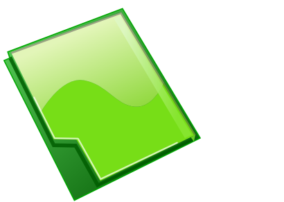 Download free document green icon