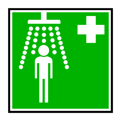 Download free cross green shower square person icon