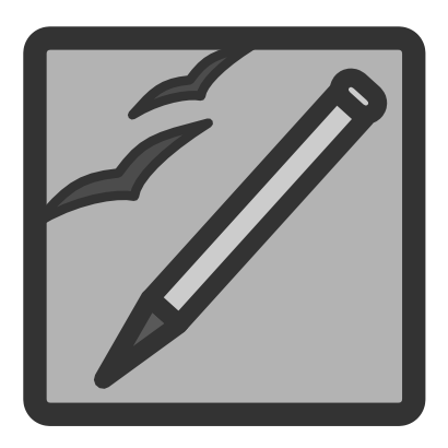Download free pencil grey square icon
