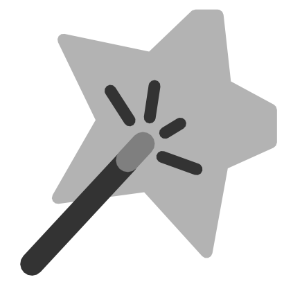 Download free grey star wand icon