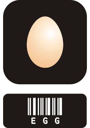 Download free letter food egg barcode icon