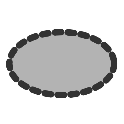 Download free grey oval icon