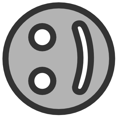Download free grey smiley icon