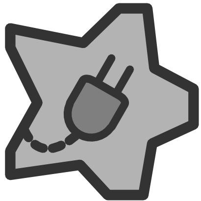 Download free grey electric electricity star icon