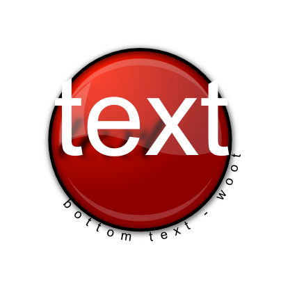Download free letter text red round icon