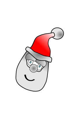 Download free head face bonnet christmas icon