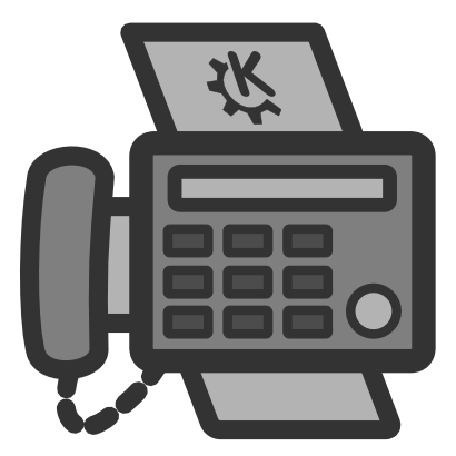Download free grey phone fingerboard fax icon