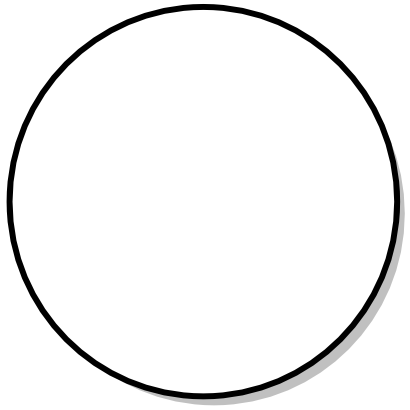 Download free round circle white disk mathematical icon