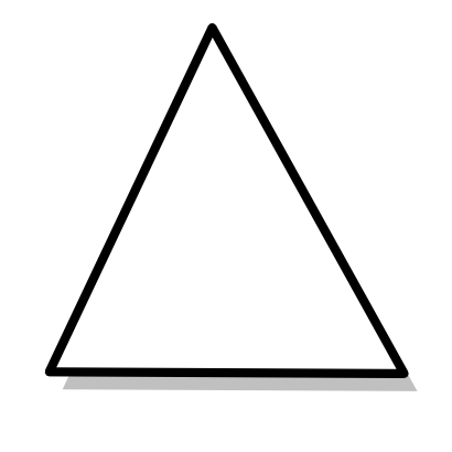Download free white triangle mathematical polygon icon