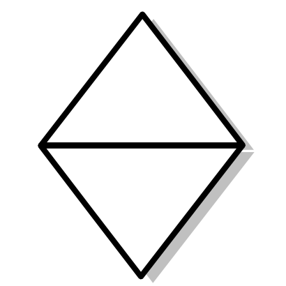Download free rhombus white triangle mathematical polygon icon