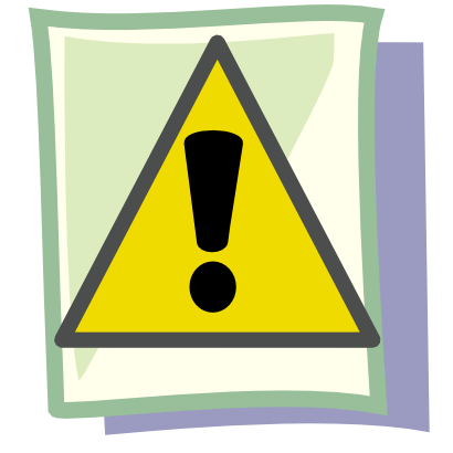 Download free yellow sheet exclamation dot triangle attention icon