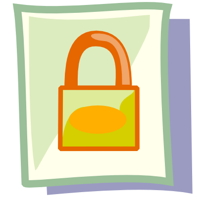 Download free sheet padlock icon