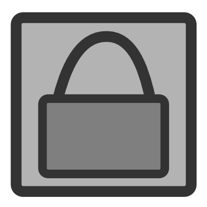 Download free grey padlock rectangle icon