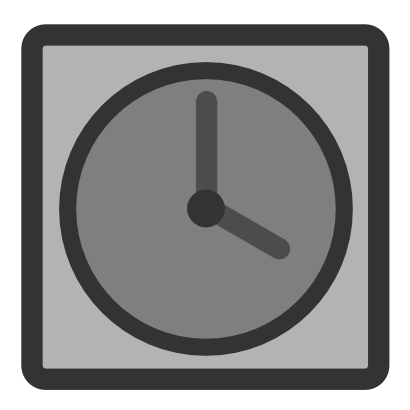 Download free grey clock hour rectangle icon
