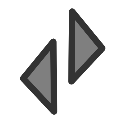 Download free grey arrow right triangle left icon
