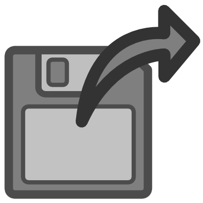 Download free grey arrow right floppy icon