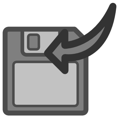 Download free grey arrow disk left icon