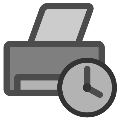Download free sheet grey clock hour printer icon