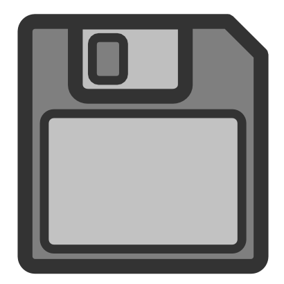 Download free grey floppy icon