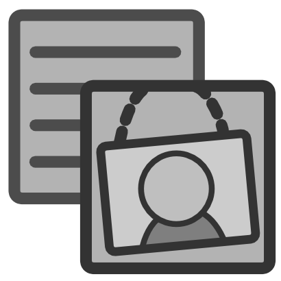 Download free grey square person line icon