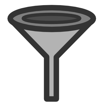 Download free grey funnel filter icon