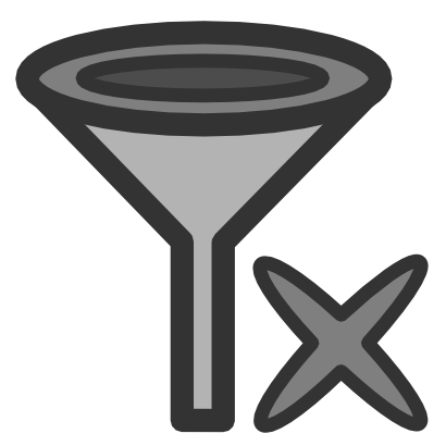 Download free grey cross funnel filter icon