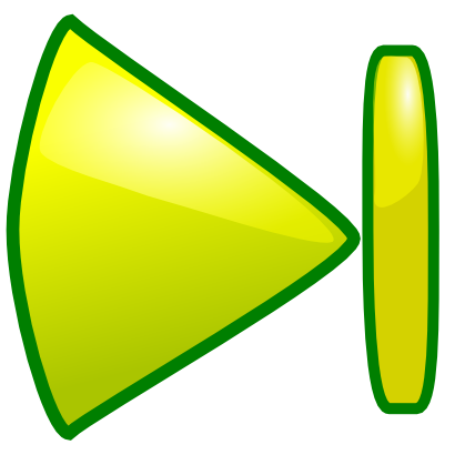 Download free yellow green triangle stroke icon