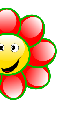 Download free red face smiley flower icon