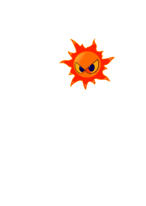 Download free eye fire sun flame icon