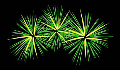 Download free green fire explosion fireworks icon