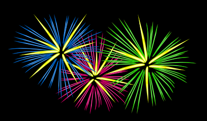 Download free blue green fire pink explosion fireworks icon