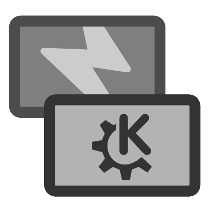 Download free wheel grey thunderbolt rectangle kde icon