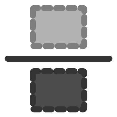 Download free grey rectangle line icon