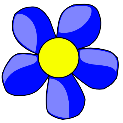 Download free yellow blue flower icon