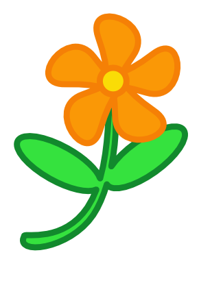 Download free orange sheet green flower icon