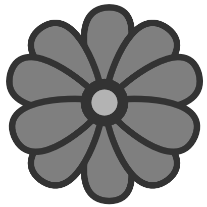 Download free grey flower icon