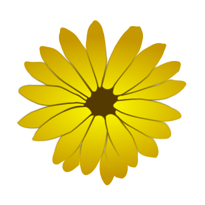 Download free yellow brown flower icon