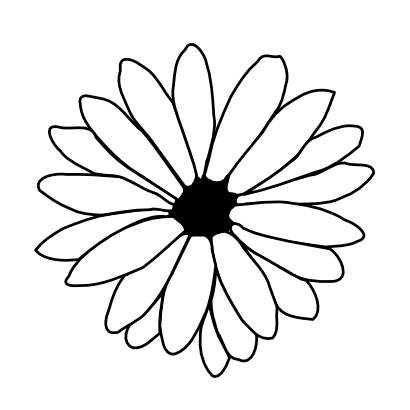 Download free white flower icon