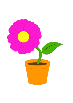Download free pot sheet pink flower icon