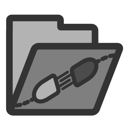 Download free grey folder electricity icon