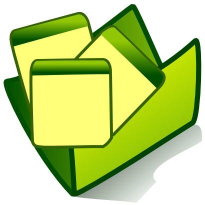 Download free sheet green folder icon